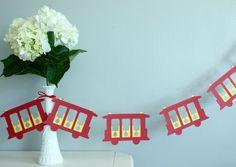 Daniel Tiger Trolley Inspired Paper Garland 6 Feet by shopfluff