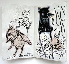 Nightmare Sketchbook by Liza Corbett