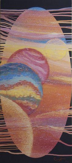 """Carina Aprile, """"TAPIZ PINTADO"""" Painting on Canvas"""