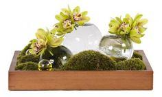 Cymbidium Garden - Arrangements - Los Angeles Florist tic-tock Couture Florals | Green and Yellow