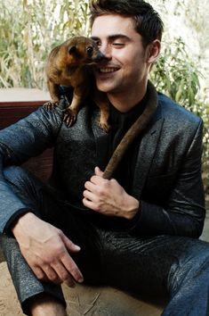 Zac Efron + Wild Animals!