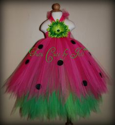 Watermelon Tutu Dress. Birthday, Costume by TutuCuteByJill on Etsy, $41.00