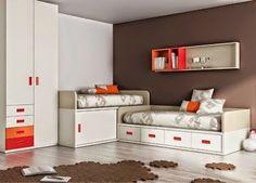 Dormitorios juveniles y habitaciones infantiles co...