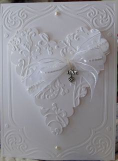 There's something about these all white cards that I love. This handmade beauty is a clean and simple card to make which makes me love it even more.  Prior Pin:::::::WHITE Festival:::::: by marissa