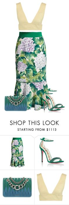 """""""Untitled #1988"""" by iammelissa ❤ liked on Polyvore featuring Dolce&Gabbana, Gucci, Miu Miu and Valentino"""