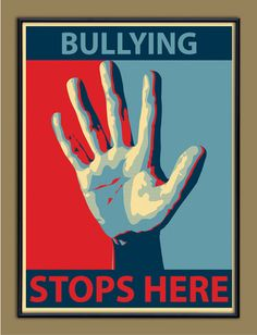Bullying Stops Here - Anti-Bullying Poster