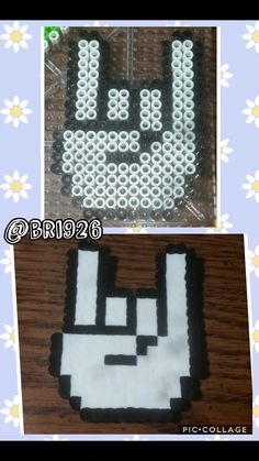 Rock n roll perler beads  *not my design*