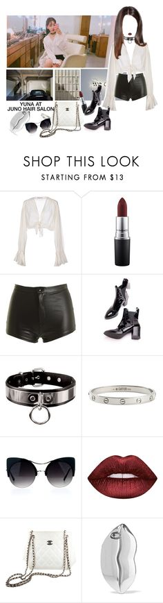 """""""«YUNA» APPOINTMENT AT JUNO SALON"""" by cw-entertainment ❤ liked on Polyvore featuring Mes Demoiselles..., MAC Cosmetics, Cartier, Lime Crime, Chanel and STELLA McCARTNEY"""