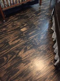 s shock your guests with these shoe string budget flooring ideas, flooring, Get beautiful hardwood floors with plywood Plywood Plank Flooring, Installing Laminate Flooring, Linoleum Flooring, Diy Flooring, Bedroom Flooring, Stained Plywood Floors, Modern Flooring, Basement Flooring, Burnt Plywood Floors