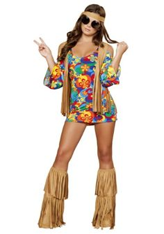 Womens Hippie Hottie Costume ~gimme bell bottoms with it though