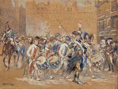 Entrée de l'armée Sambre-et-Meuse dans Bruxelles le 10 juillet 1794 Alphonse Lalauze -Gouache