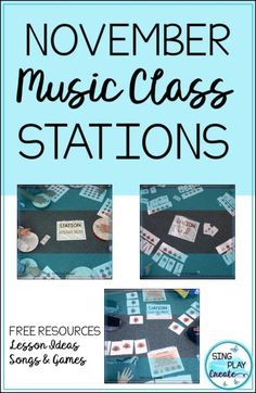 November Music Class Stations - Sing Play Create