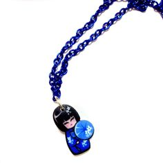 Cute colorful kokeshi doll Japanese doll Acrylic laser cut pendant... (€23) ❤ liked on Polyvore featuring jewelry, pendants, blue pendant, purple pendant, red charms, acrylic charms and green charm