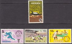 Nigeria 1973 SG 307 - 310 All African Games Fine Mint As SG 307 3 Scott 287 90 Other Commonwealth Stamps for sale here