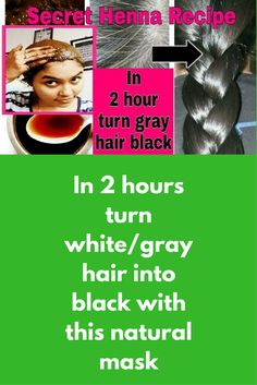 In 2 hours turn white/gray hair into black with this natural mask This is 100% natural remedy and there is no side effect of this mask Ingredients needed Henna powder Tea – 3-4 tsp of tea For this recipe we need tea water. Boil tea powder in half cup of water and filter this water Mask preparation: In a bowl take henna according to your hair length …