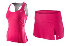 The color is great, not sure if I like how snug the top is. Tennis Clothes, Tennis Outfits, Workout Wear, Workout Outfits, Netball, Girly Girl, Fitness Inspiration, Snug, Athletic Tank Tops