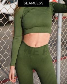 Bilde av We Are Fit Forrest Top Ribbed Crop Tops, Fitness, Shopping, Women, Fashion, Moda, Fashion Styles, Fashion Illustrations, Cropped Tops