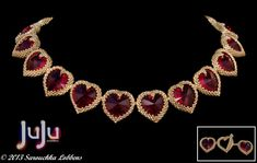 Tutorial for Necklace My Hearts Desire by JuJuJewelleryUK