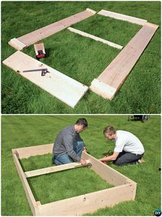 DIY Simplest Raised Garden Bed Plan Instruction-20 DIY Raised Garden Bed Ideas Instructions #Gardening, #Woodworking