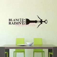 Aliexpress.com : Buy Stickers French Cuisine Vin Rouge Vinyl Wall Sticker Mural Wall Art Wallpaper Kitchen Tile Wall Decal Home Decor Decoration from Reliable home decor decorative pillows suppliers on Kililaya