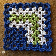 Ravelry: Mitered Granny Square Dishcloth pattern by Oombawka Design
