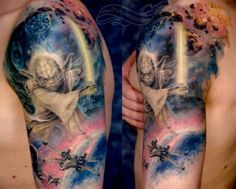 George Lucas' Star Wars is an epic cinematic icon for current and future generations! #InkedMagazine #starwars #movie #tattoo #tattoos #inked #ink #yoda