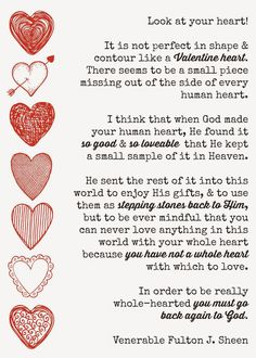 Fulton Sheen quote on love and how God completes us.