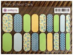 Custom Teacher Nail Wraps! Owls