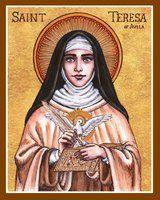 St. Teresa of Avila icon by Theophilia