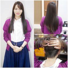 画像 Long to Short Updo Styles, Long Hair Styles, Shaved Hair Cuts, Roller Set, Spa Treatments, Perm, Updos, Hair Beauty, Anime
