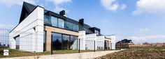 Dom bliźniak w Zielonkach - Średnie jednopiętrowe domy wielorodzinne z dwuspadowym dachem murowane, styl nowoczesny - zdjęcie od magda jagannathan
