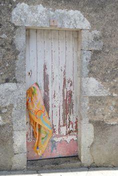Peeling paint on an old door . Peeling Paint, Painted Doors, Abstract, Artist, Painting, Summary, Painted Front Doors, Painting Art, Paintings