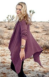 Jacket knitted crosswise - free pattern