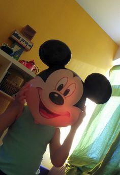 Mickey Mouse Ballon, Kind mit Mickey Gesicht, Papablog