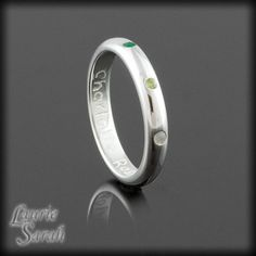 Sterling Silver Mothers Ring with Bezel Set by LaurieSarahDesigns, $155.52
