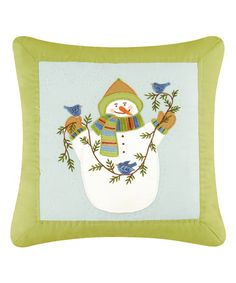 Look at this Lime Green Eco Ernie Throw Pillow on #zulily today!