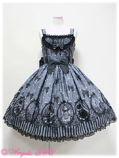 Angelic Pretty Cinema Doll JSK (Black, Lavender, Pink)
