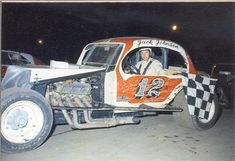 Click this image to show the full-size version. Dirt Car Racing, Sprint Car Racing, Old Race Cars, Checkered Flag, Vintage Race Car, Modified Cars, Car And Driver, Race Day, Car Photos