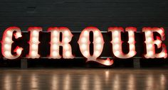 Circus font marquee sign by Goodwin and Goodwin. Gorgeous!