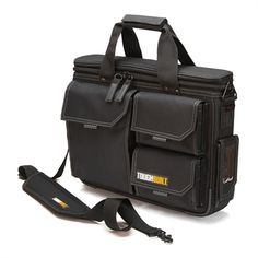 The TOUGHBUILT Quick Access Laptop Bag and Shoulder Strap (Medium) is designed to organize and protect your 13 in. - 17 in. laptop and accessories in the field. Rugged HardBody construction is combined Tool Tote, Laptop Shoulder Bag, Shoulder Strap, Shoulder Bags, Plastic Storage Totes, Tool Storage, 17 Inch Laptop, Chanel Handbags, Handbags