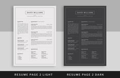 Resume/CV by UX-group on @creativemarket