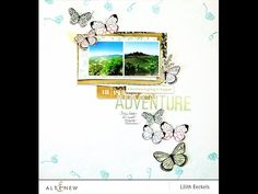 Wow! A whimsical layout with a fun subtle border using the Golden Garden Stamp Set and two crisp inks: Mountain Mist and Lagoon. Watch the video to learn more. http://altenewblog.com/2016/11/25/video-golden-garden-create-whimsical-border/