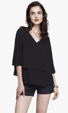 v-neck cape blouse from EXPRESS