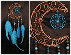 chris brown tattoos on my neck song Blue Dream Catcher, Dream Catchers, Virgo And Pisces, Ancient Egypt History, Moon Dreamcatcher, Brass Fittings, Wire Art, Wind Chimes, Thing 1