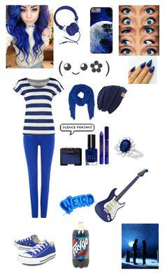 """Bluetiful"" by selfdestructiveatheart ❤ liked on Polyvore featuring Converse, Allurez, Polo Ralph Lauren, TWINTIP, DESTIN, Urbanears, Bobbi Brown Cosmetics, By Terry and NARS Cosmetics"
