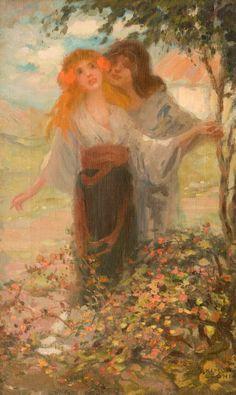 Allegory of Spring - Kimon Loghi Beauty In Art, Beauty Women, Isnt She Lovely, Famous Words, Art Database, Macedonia, Art History, Spring, Artwork