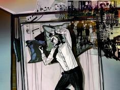 """Patrizia Calegari """"Quando chiudo gli occhi"""", 2015, Stampa inkjet su tela canvas, 150 x 200 cm, Foto di Mauro Ranzani.  Mostra WELOVESLEEP, Galleria Santa Radegonda, fermata Duomo della metropolitana di Milano, fino al 14 giugno 2015. INGRESSO GRATUITO #welovesleep"""