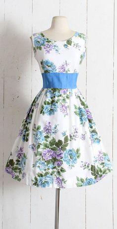Vintage 1950s Dress vintage 50s Paintset Fashions floral