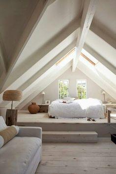 badkamer met schuin dak landelijk - Google zoeken