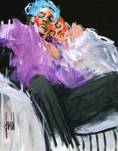 """""""Enlacés"""" - acrylique sur toile - 146x114cm - année 2016"""